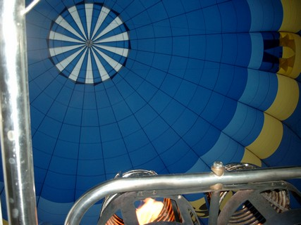 View in the balloon