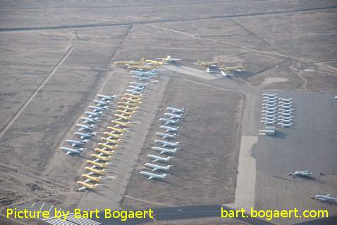 Aircraft graveyard at Kingman airport