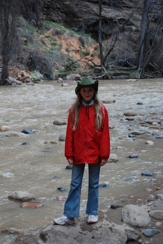 Evelyn in Zion canyon